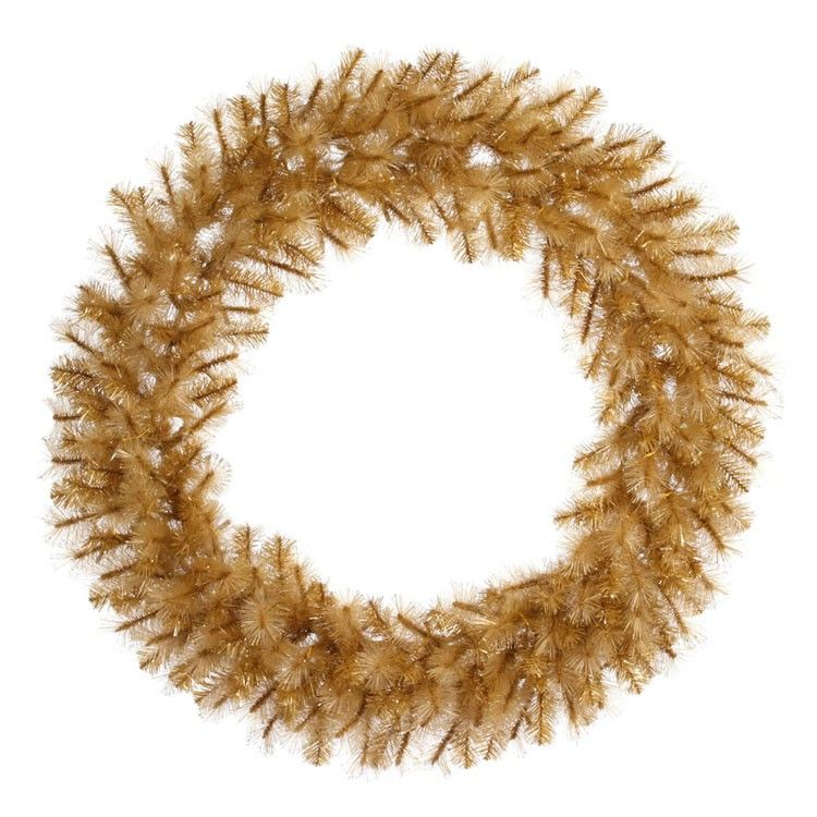 48 Inch Gold Glitter Cashmere Artificial Christmas Wreath