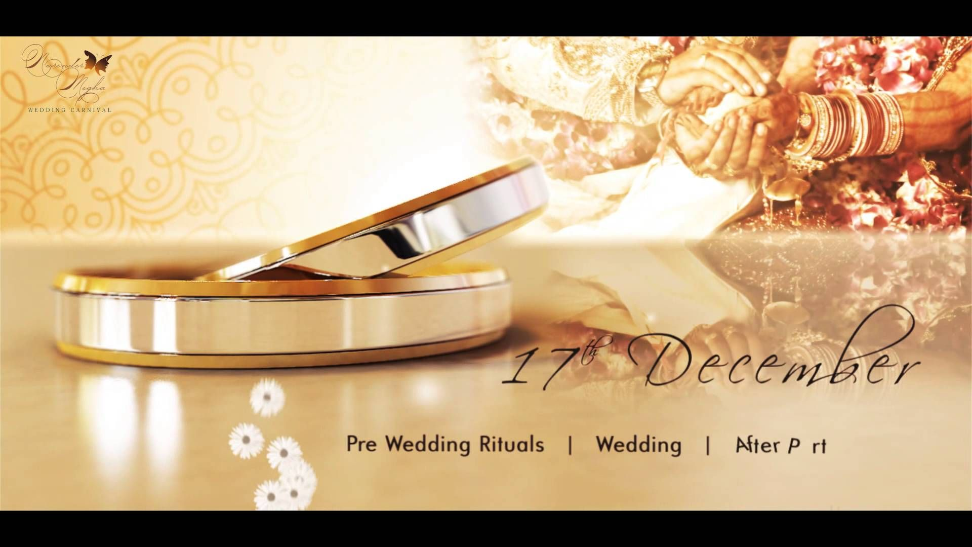 wedding invitation video, video invitation - classy marriage