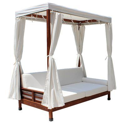 Daybed with Cushions in 2020 | Outdoor daybed, Wooden ... on Belham Living Brighton Outdoor Daybed id=69927