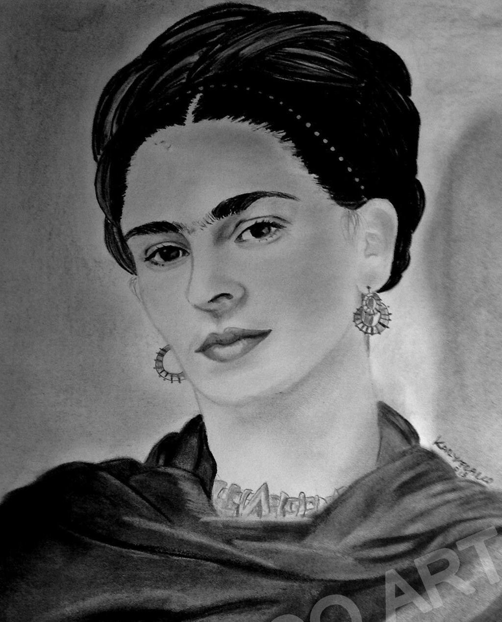 Dibujo A Lapiz Dibujos Frida Kahlo Arte