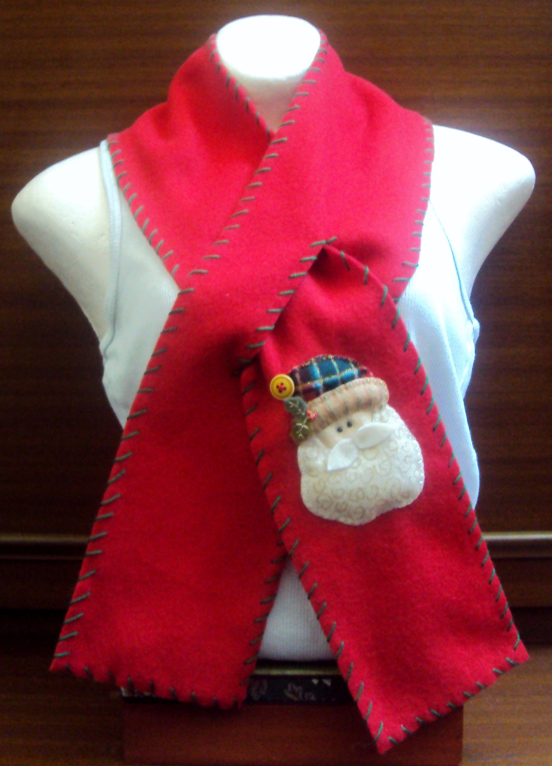 Cop bufanda navide a hecha en fleese para ni os y - Manualidades para adultos ...