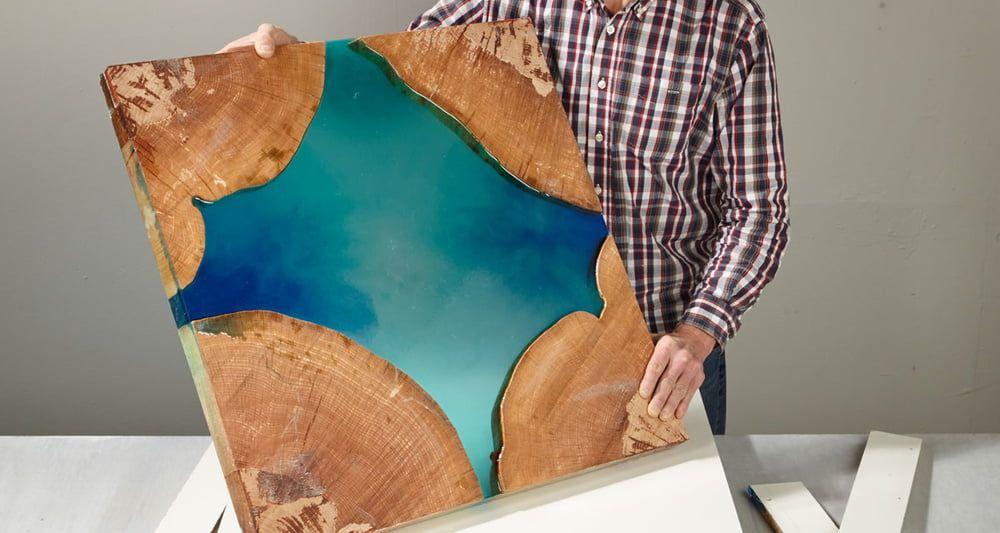 Angesagt und einzigartig: Epoxidharz Tisch selber bauen mit