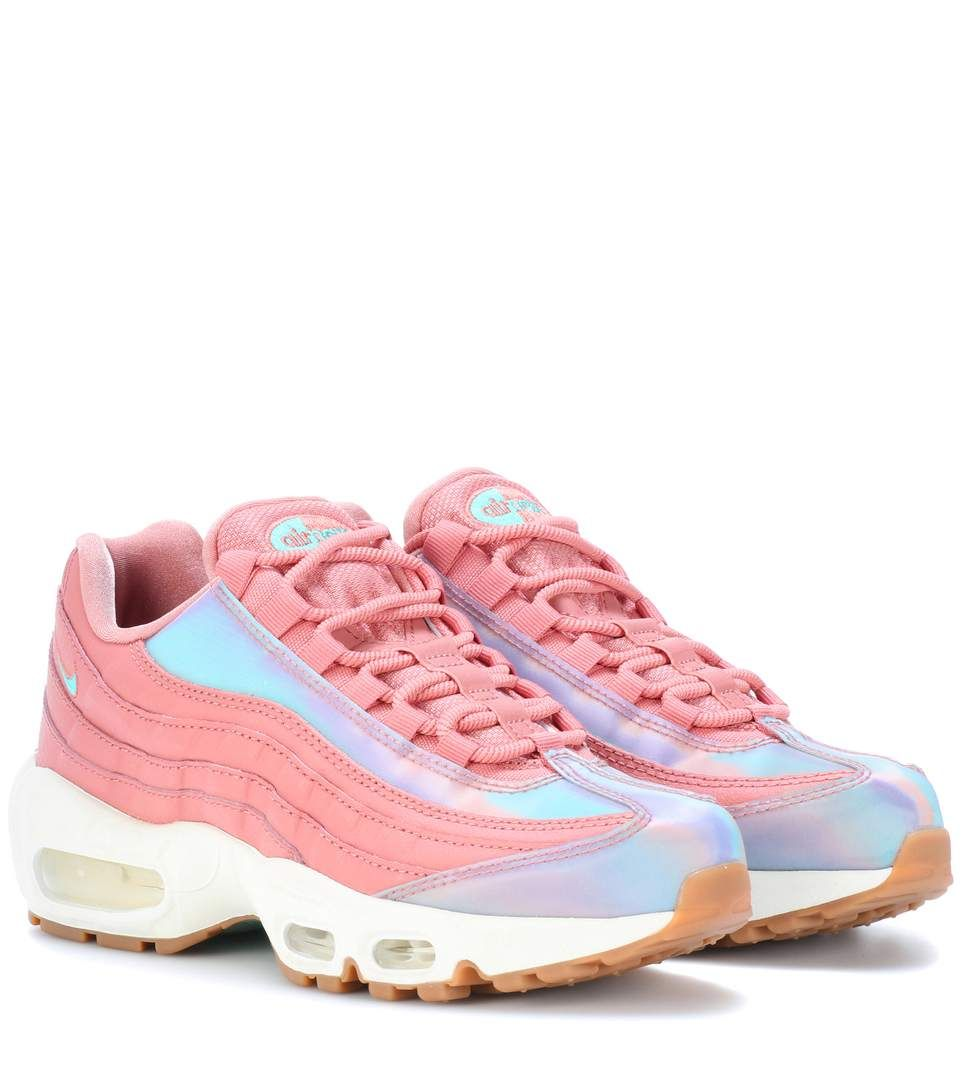 NIKE Air Max 95 leather sneakers. #nike #shoes # | Pink
