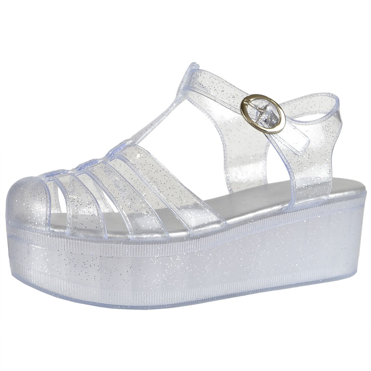 Clear Jelly Sandals #jelly #sandals