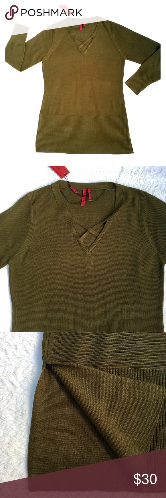 Love Scarlett Tunic Sweater NWT NWT | Green tunic, Tunic sweater ...