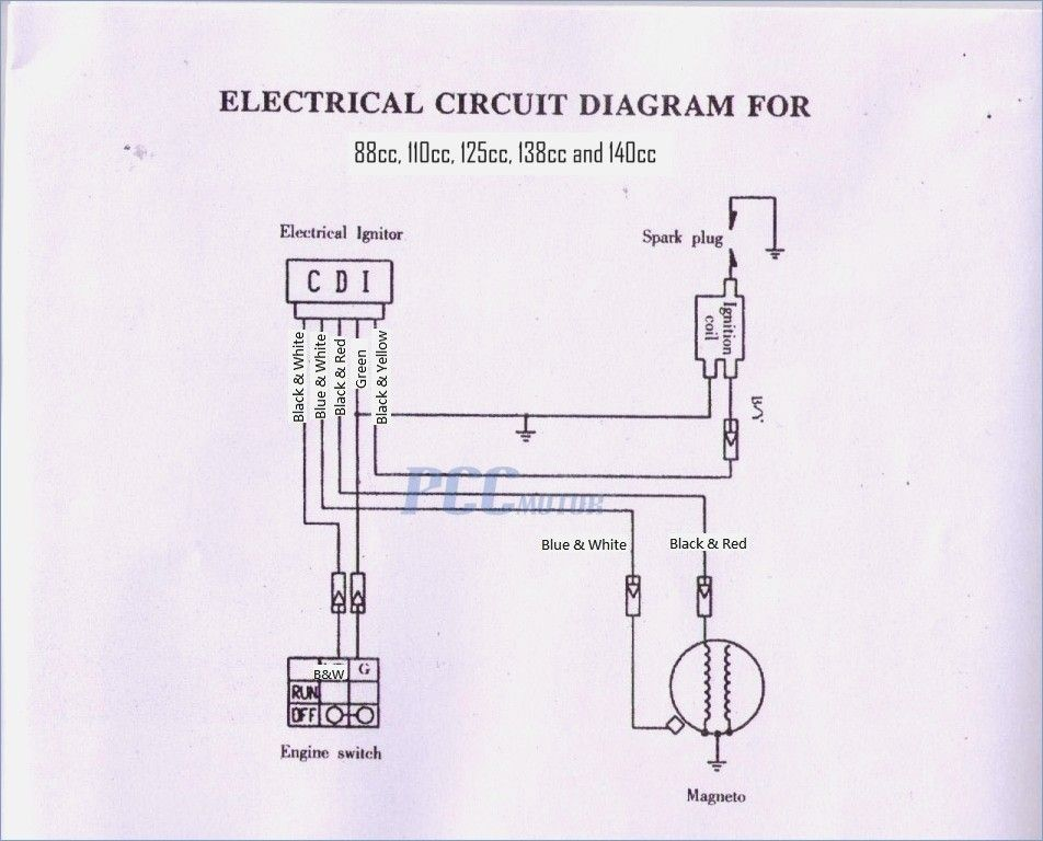 49cc pocket bike wiring diagram | Diagram, Electrical circuit diagram, Mini  chopperPinterest