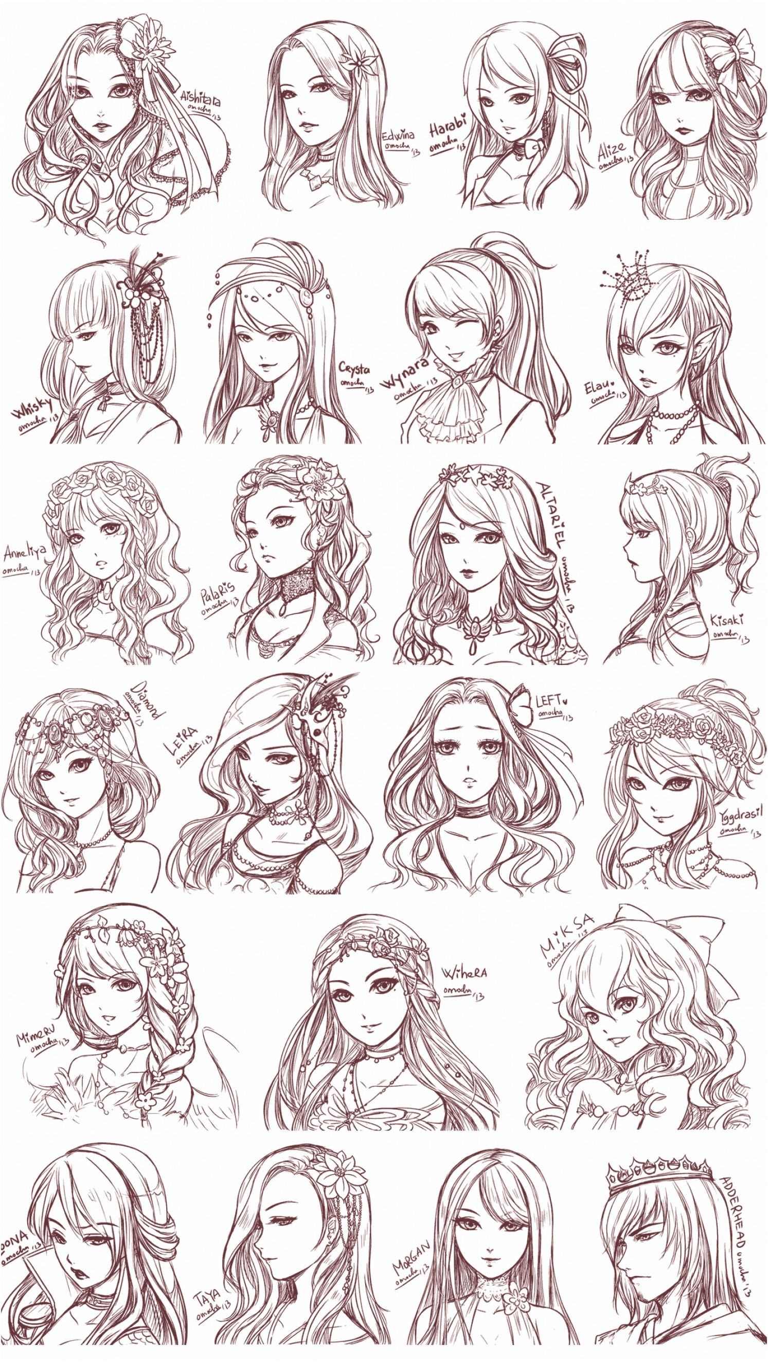 Photo of Anime Hair Drawing Reference And Sketches For Artists