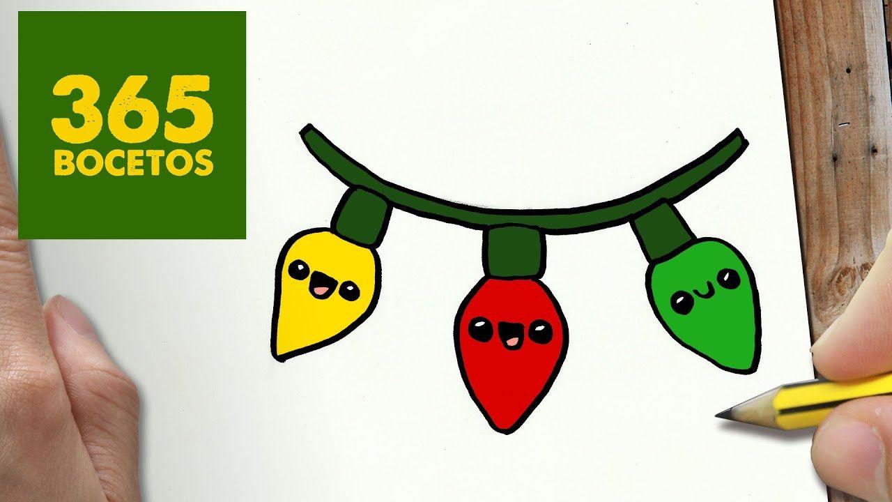 Como Dibujar Luces Para Navidad Paso A Paso Dibujos Kawaii