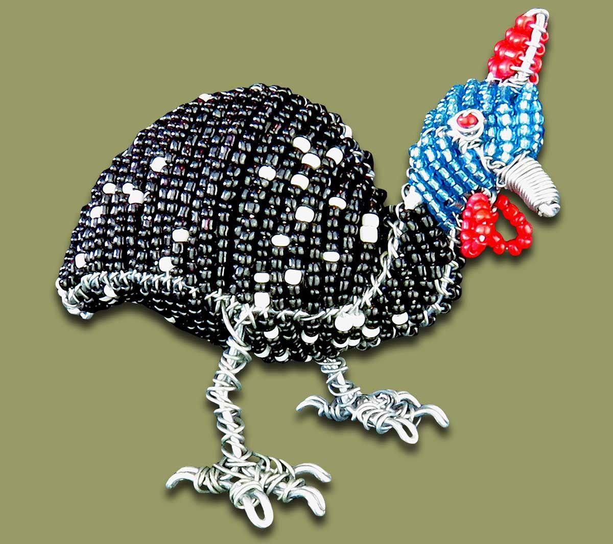 Large Guinea Fowl Beaded | ༺✿༻Beadwork༺✿༻ | Pinterest | Guinea ...