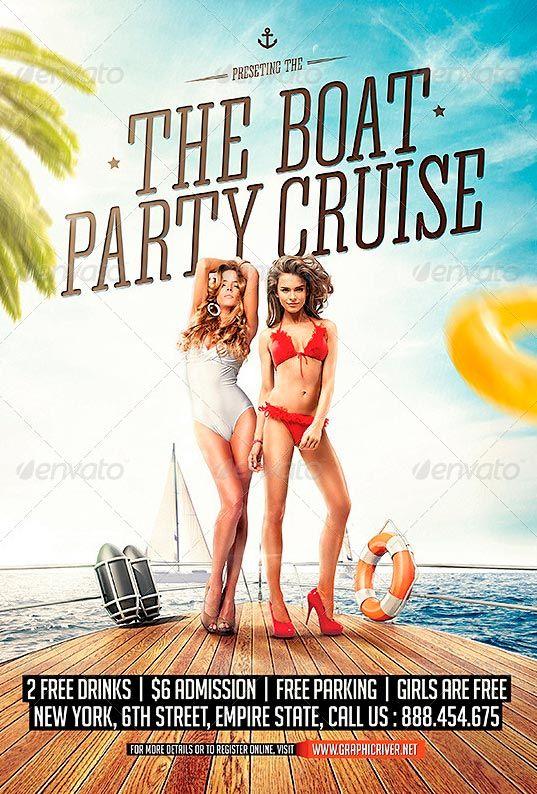 Yacht  Boat Party Flyer Template  HttpWwwFfflyerComYacht