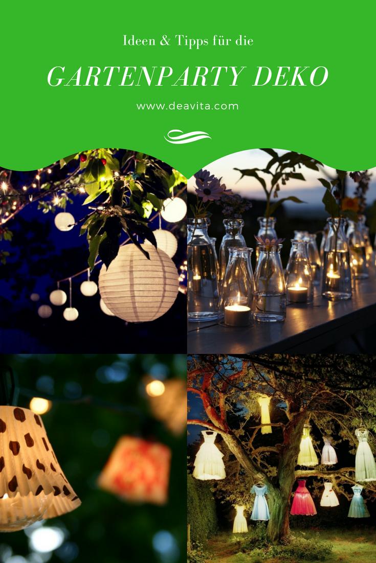 Gartenparty Deko Und Beleuchtung 55 Ideen Fur Feier Am Abend Gartenparty Deko Gartenparty Und Party