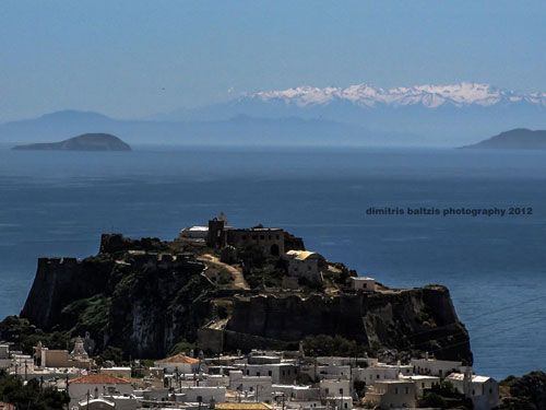 #Chora #Kythira #Greece in backround #Crete