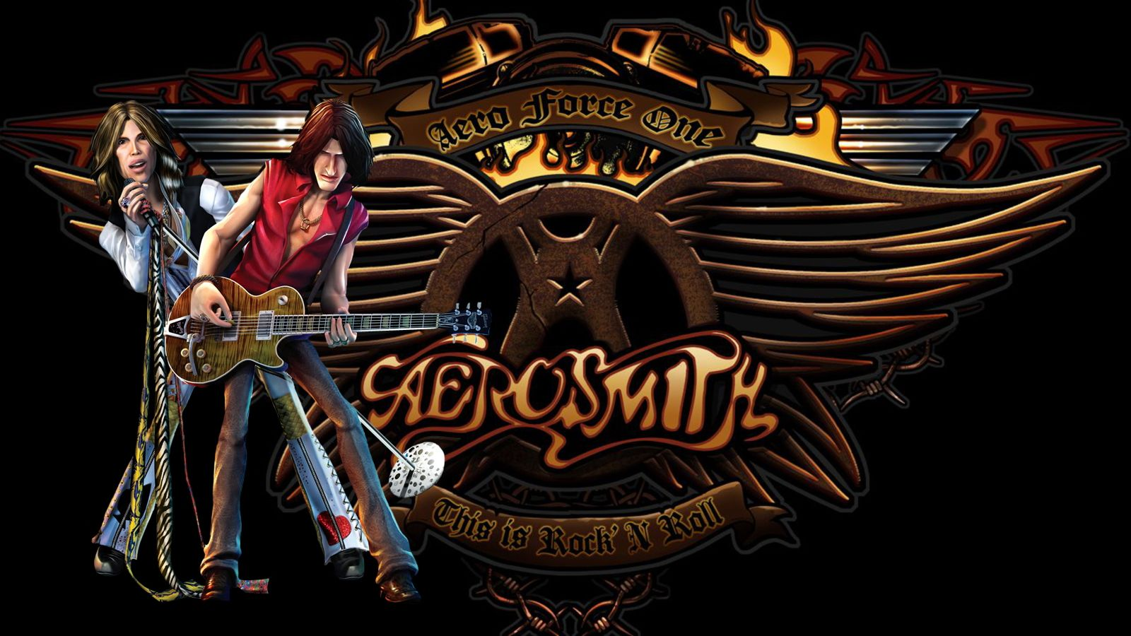 Aerosmith Logo Wallpaper Aerosmith Aerosmith Music Tyler Aerosmith
