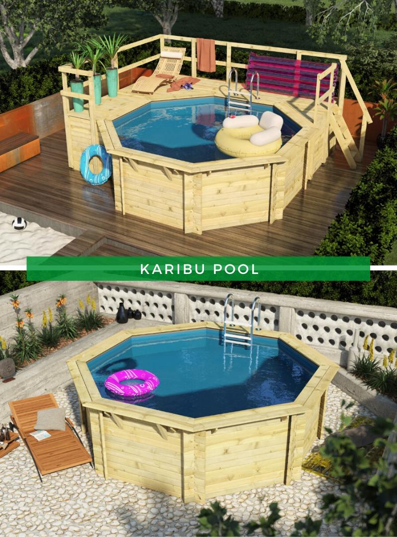 Sparset Karibu Pool Modell 1 Pool Im Garten Pool Pool Holz