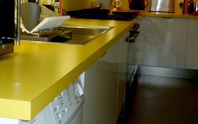 Chrome Yellow Coloured Worktops Uk Home Delivery Laminate