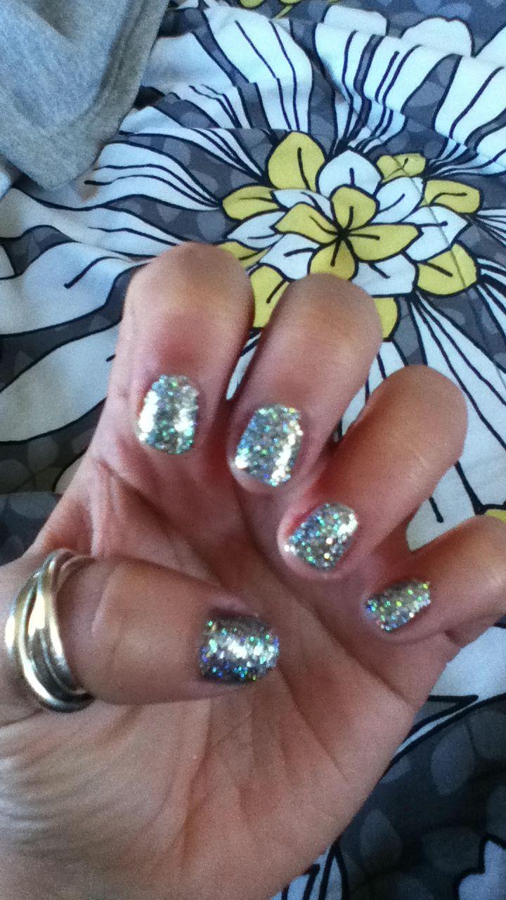 Nails. Glitter. Short. Obsessed