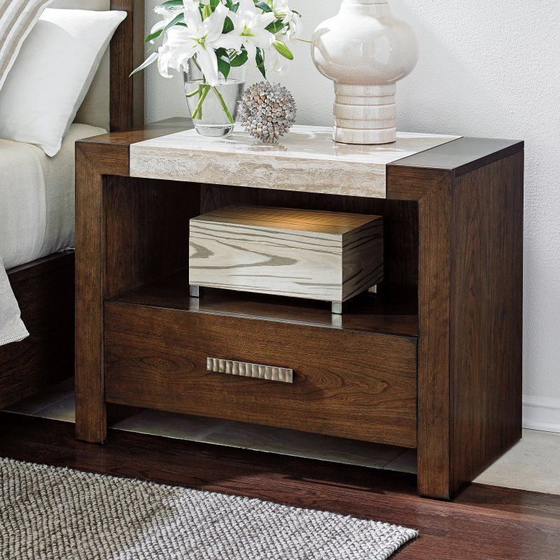 Lexington Home Brands Laurel Canyon Graysby 1 Drawer Nightstand