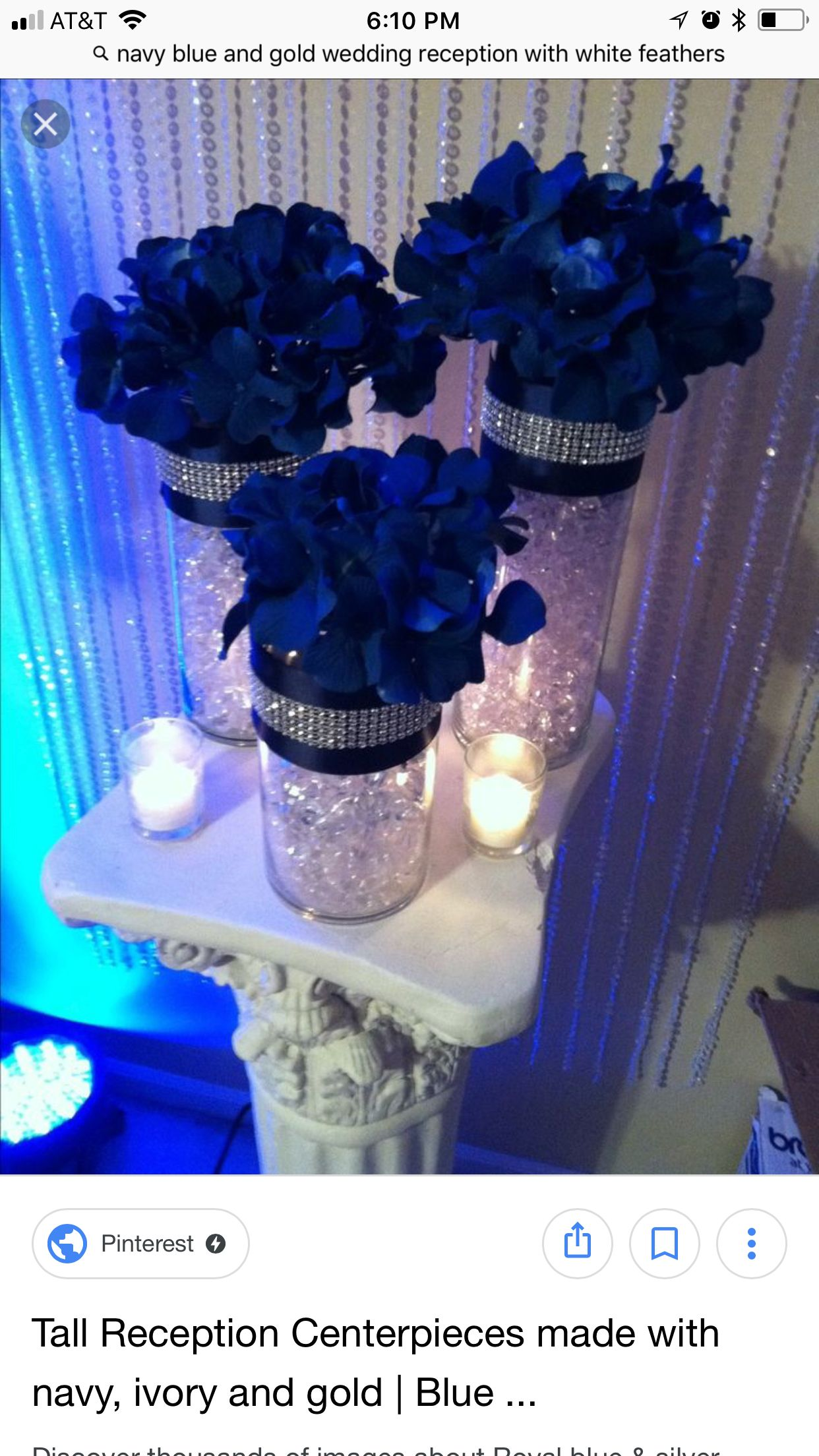 Wedding decorations with royal blue  Pin by Stephanie Seals on Wedding  Pinterest  Wedding