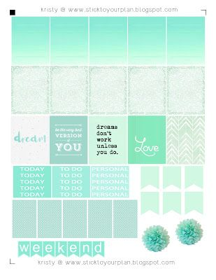 stick to your plan: Muted Mints - Free Printable