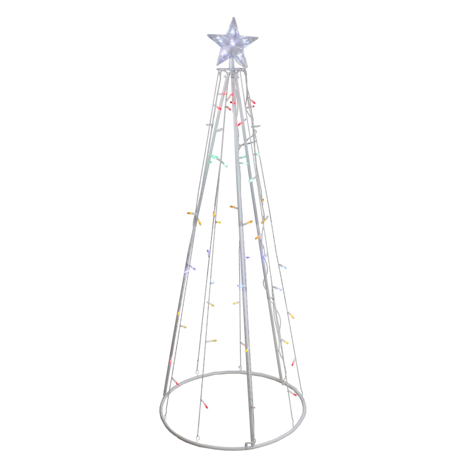 Northlight 5' Prelit Artificial Christmas Tree Show Cone
