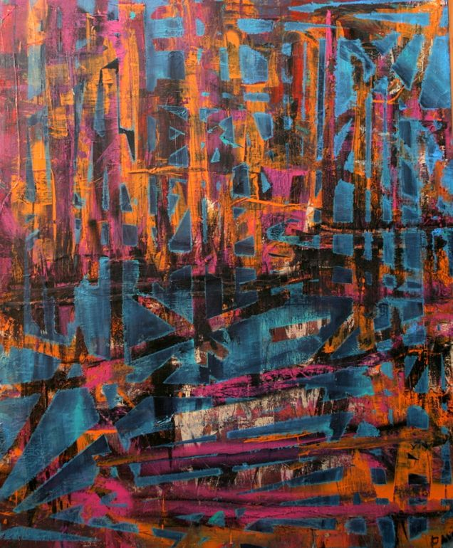 "Saatchi Art Artist: Davida Gatti-Reis; Acrylic 2011 Painting ""CITY OF BRILLIANT DREAMS. SOLD"""