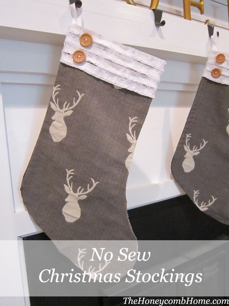 How To Make A No Sew Christmas Stocking TheHoneycombHome.com