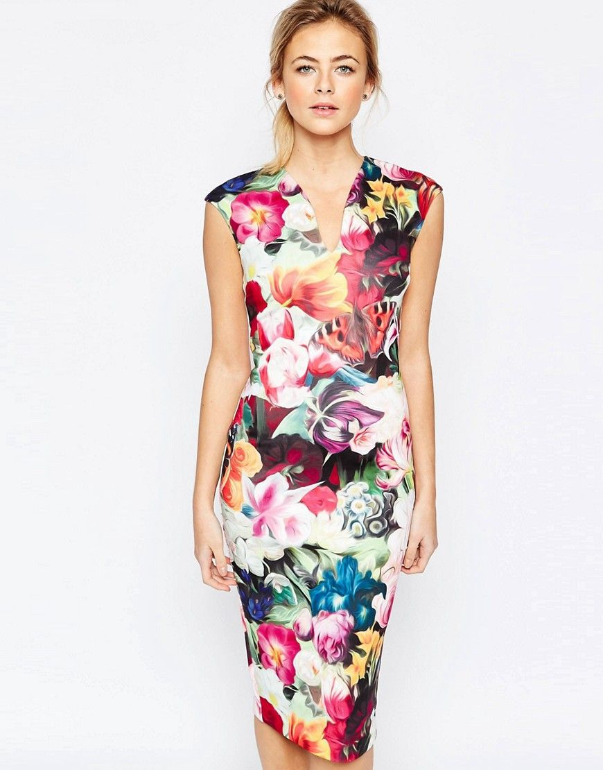 e141695a6 Ted Baker Floral Swirl Print Dress