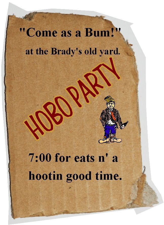 hobo party - Google Search   Hobo party   Pinterest