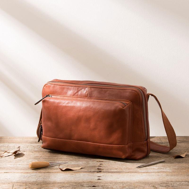 Black Brown Cool Leather Mens Shoulder Bags Messenger Bags for Men –  iwalletsmen a29707801a