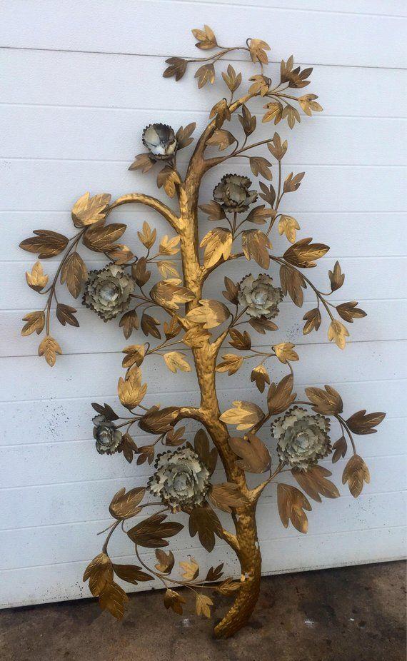 Vintage Metal Tree Wall Sculpture In 2019