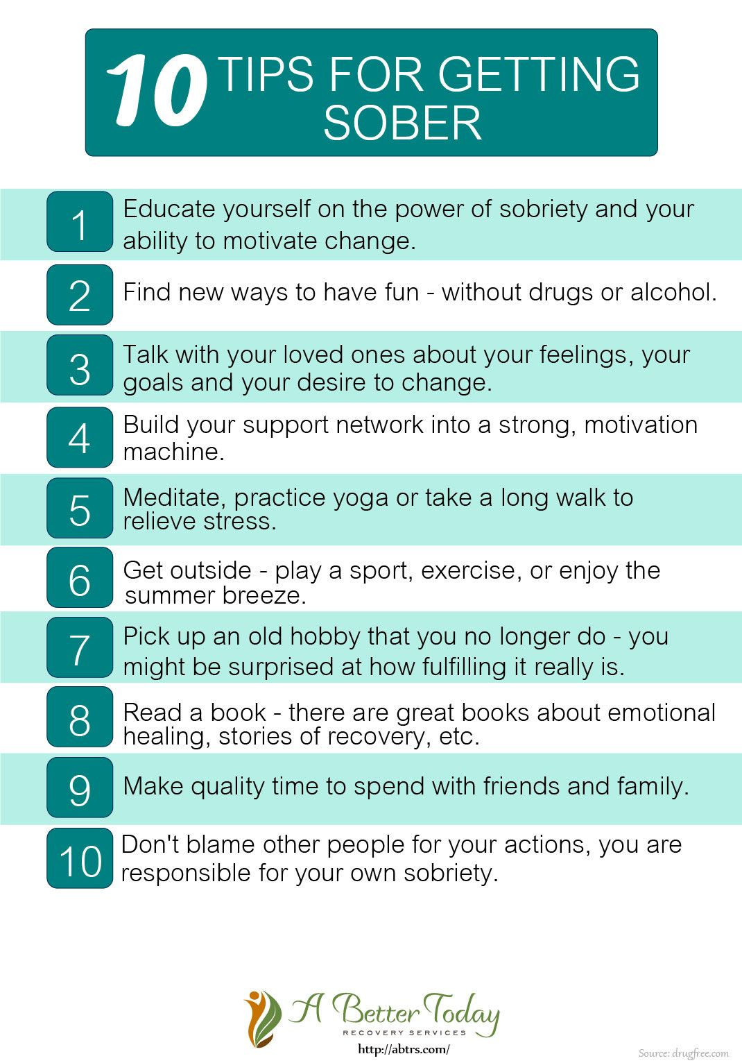 It S The Last Set Of 10 Tips For Getting Sober If You Missed Our Previous Tips You Can Visit Our Webpage Which Tips W Sober Lifestyle Getting Sober Sober