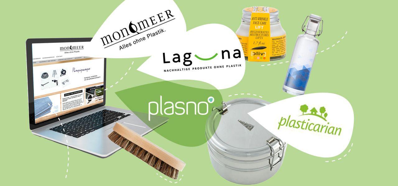 Wir stellen die wichtigsten plastikfreien Onlineshops vor und sagen euch, wo ihr sonst noch gut plastikfrei einkaufen könnt.