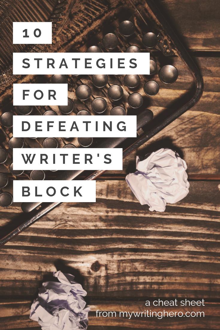 Essay writer's block help