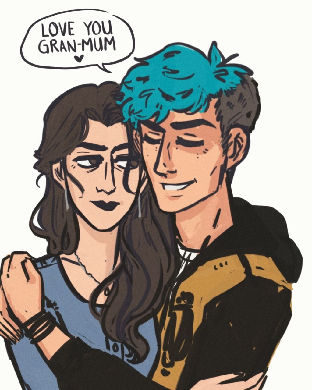 Teddy Lupin Is A Good Kid Teddy Lupin And Andromeda Tonks By Gin Draws Teddy Lupin Harry Potter Art Harry Potter Fanfiction