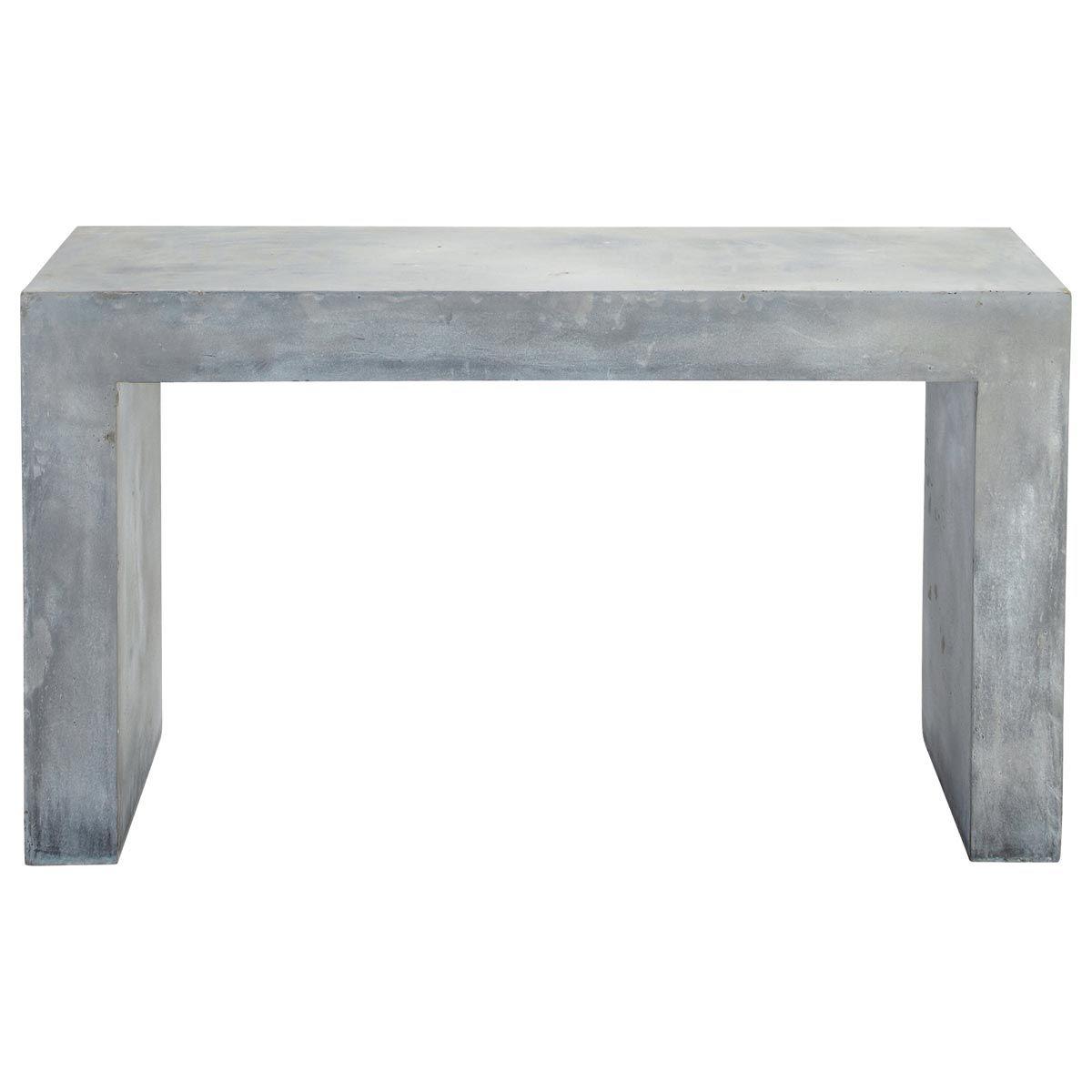 Table console effet béton en magnésie grise L 135 cm | Minerals ...
