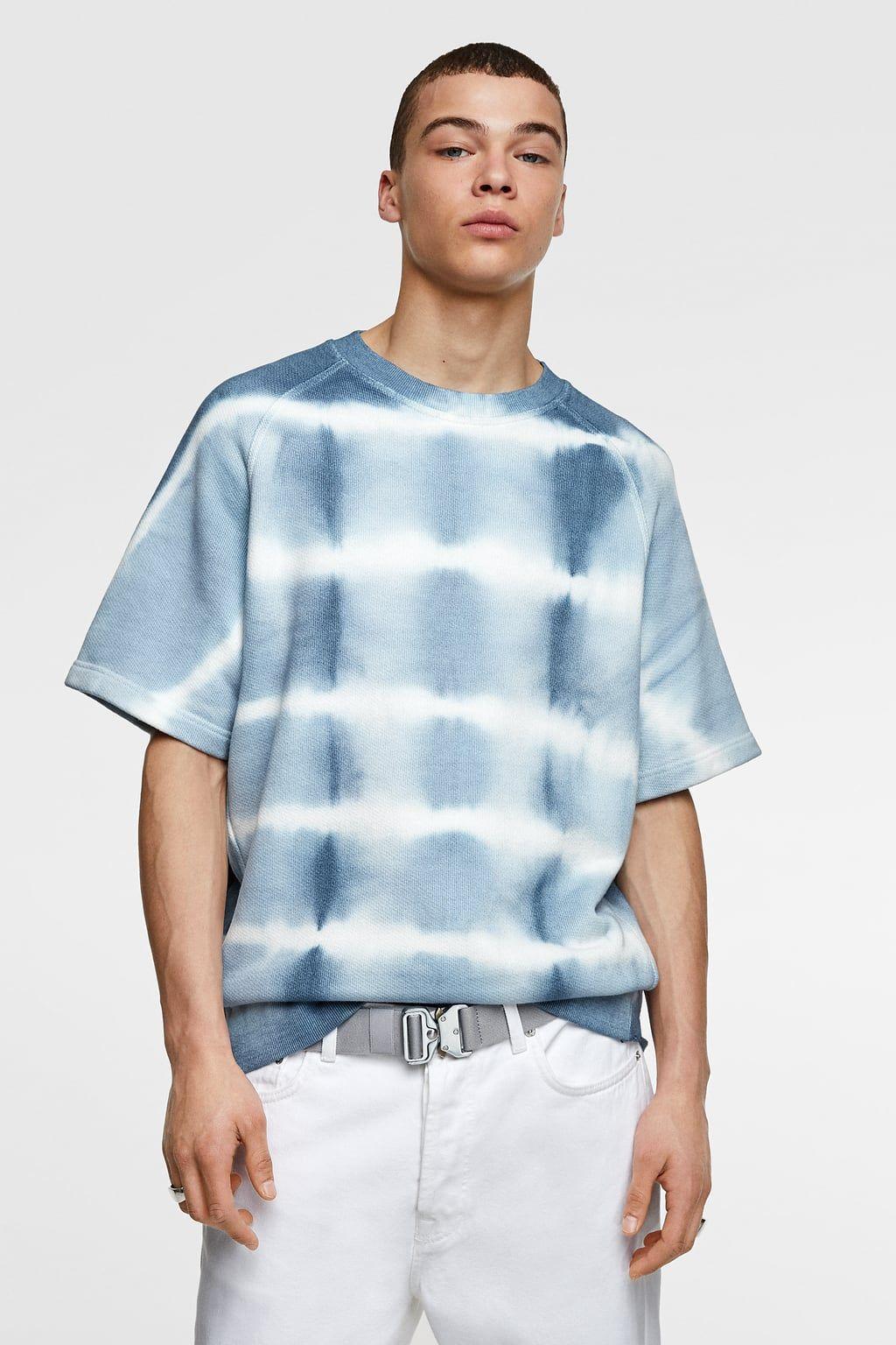 Tie Dye Print Sweatshirt New In Man Zara Canada Tie Dye Outfits Tie Dye Tie Dye T Shirts [ 1536 x 1024 Pixel ]