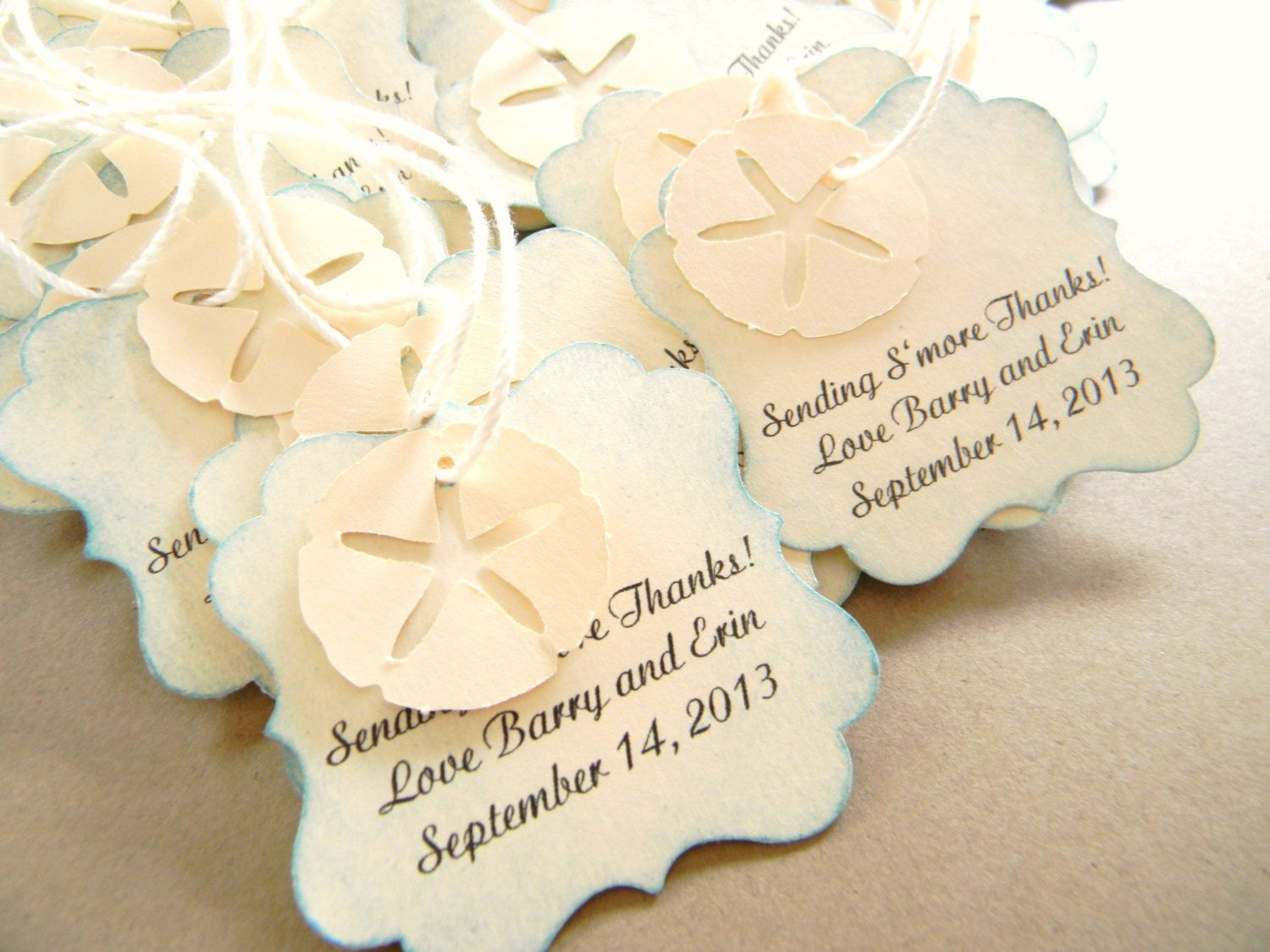 Contemporary Beach Wedding Favor Tags Ornament - The Wedding Ideas ...