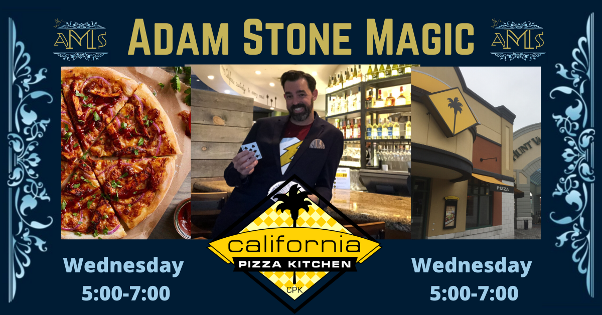 Copy Of Magic At The California Pizza Kitchen In Hunt Valley In 2020 California Pizza Kitchen Pizza Kitchen California Pizza