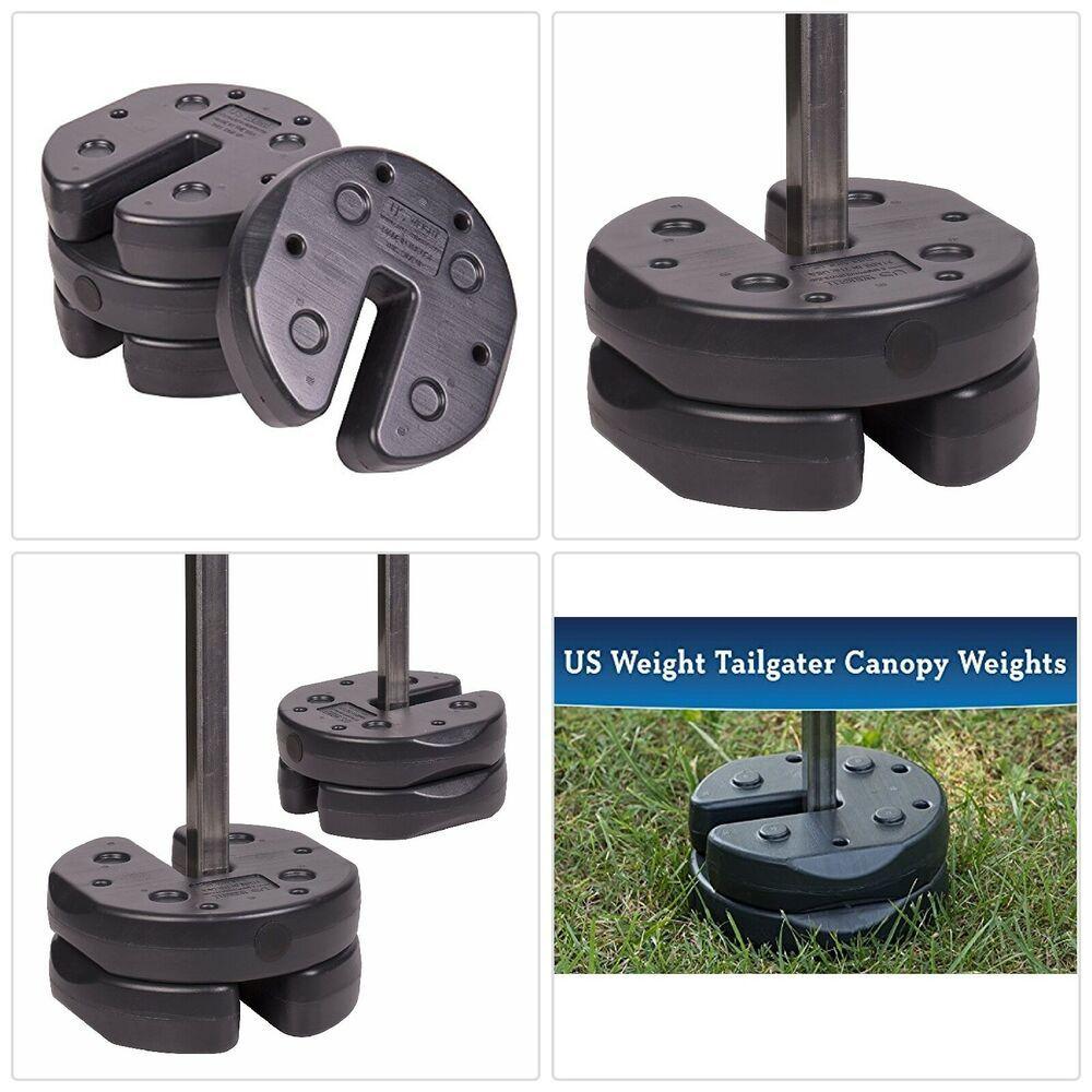 Ad Ebay 20 Lb Interlocking Canopy Weight Set 4 5 Lb Plates