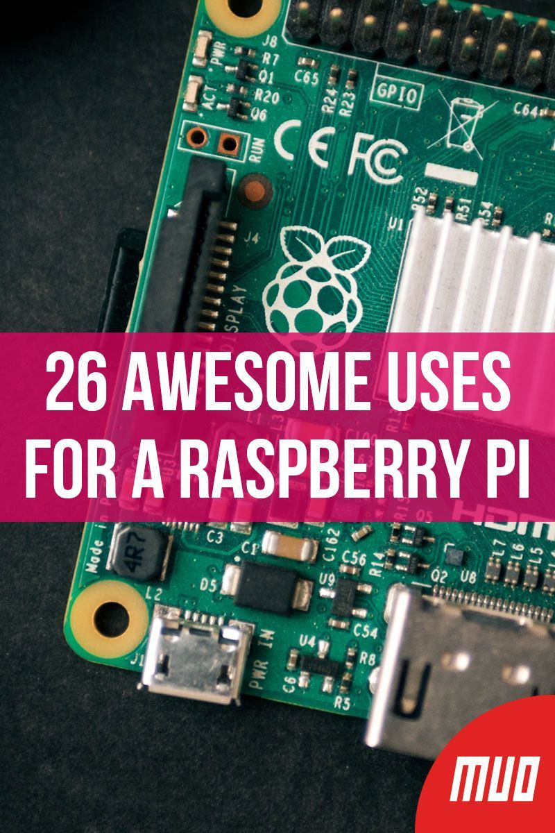 26 Awesome Uses for a Raspberry Pi ---   Can this little device really act as a desktop PC? As a server? As a radio station? Yes, it can!  To get you started, we've collected a whole bunch of uses for the Raspberry Pi, with detailed tutorials from across MakeUseOf.  #RaspberryPi #Electronics #Project #Ideas