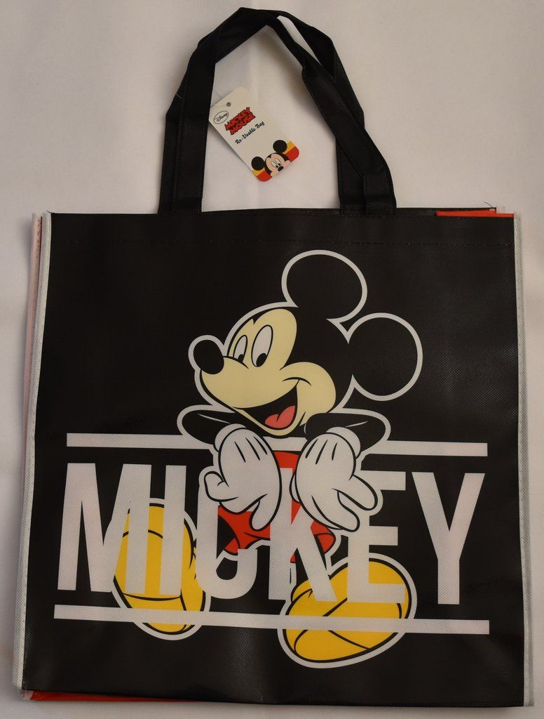 Mickey mouse disney tote bag black shopper shopping shoulder wipe