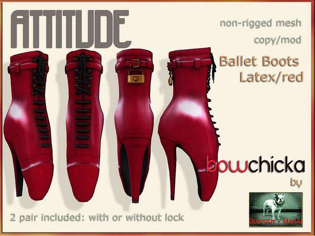 BowChicka - Attitude - Ballet Boots - Latex Red Kopie   Flickr - Photo Sharing!