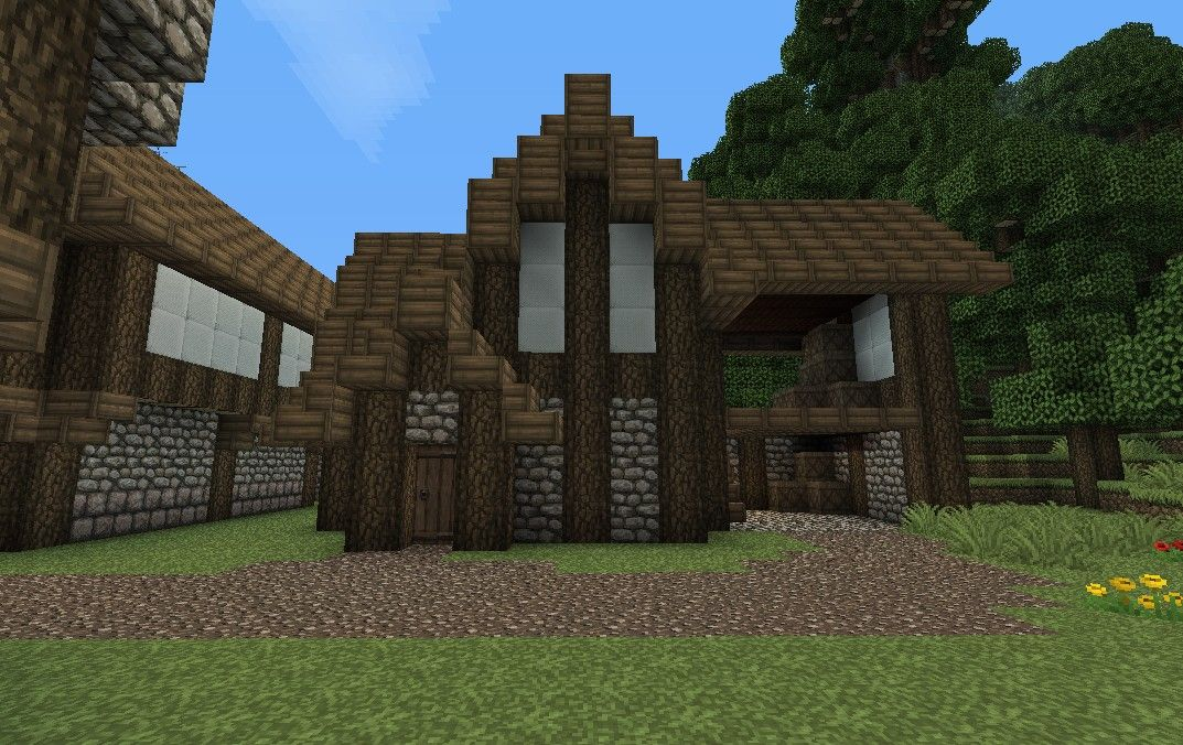 Medieval barn minecraft project minecraft floor plans for Medieval house plans