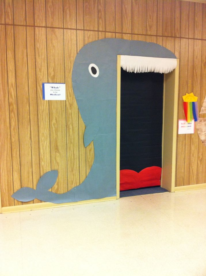 Whale Classroom Decor : Jonah the whale doorway for vbs inside of mouth opens