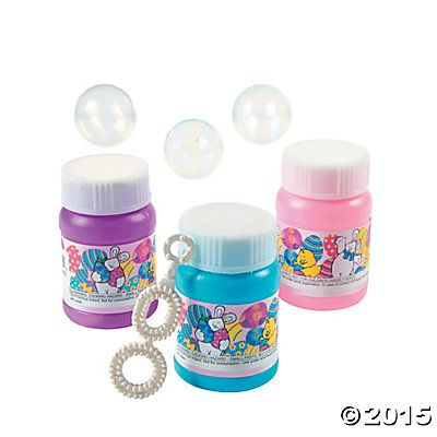 Mini Easter Bubble Bottles - Oriental Trading