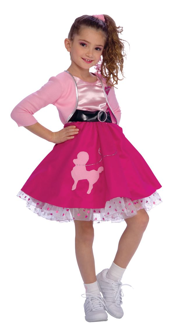 50s Girl Costume Girls Fancy Dress Outfit Rubies Kids Child | eBay ...
