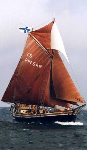 """""""Valborg"""" was built to serve as a sailing freight ship in Porvoo, Finland in 1948 and mostly carried sand and timber between Finish ports. After she retired in the early 70's she was rebuilt to become a sail training ship for the scouts."""