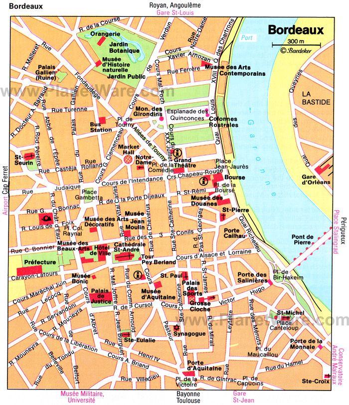 Bordeaux On Map Of France.Bordeaux Map Tourist Attractions Bordeaux Bordeaux France