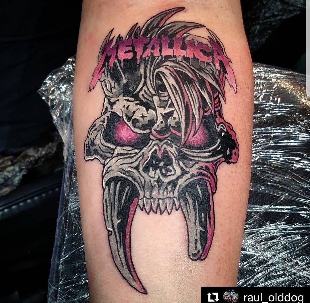 Pin By Michael Hutchens On Metallica Metal Tattoo Metallica Tattoo Tattoos