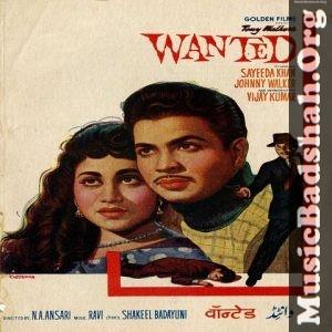 Wanted 1961 Bollywood Hindi Movie Mp3 Songs Download Hindi Movies Mp3 Song Mp3 Song Download